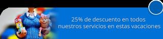 25% de descuento en todos nuestros servicios en estas vacaciones - Gotica de Felicidad