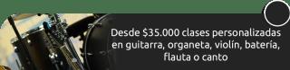 Desde $35.000 clases personalizadas en guitarra, organero, violín, batería, flauta o canto - Iceventos