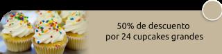 50% de descuento por 24 cupcakes grandes - Cakes & Cupcakes