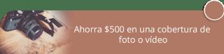 Ahorra $500 en una cobertura de foto o vídeo - JM estudio