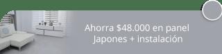 Ahorra $48.000 en panel Japones + instalación - Baruk Cortinas y Persianas