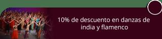 10% de descuento en danzas de india y flamenco - Escuela Elixirdanza