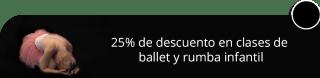 25% de descuento en clases de ballet y rumba infantil - Academia de Baile Flash Dance
