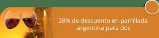 28% de descuento en parrillada argentina para dos - El Madero Restaurante Parrilla Bar