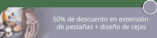 50% de descuento en extensión de pestañas + diseño de cejas - John Coy Peluquería Studio