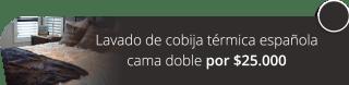 Lavado de cobija térmica española cama doble por $25.000 - Su Lavandería Pontevedra
