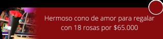 Hermoso cono de amor para regalar con 18 rosas por $65000 - Flores y Regalos Bogotá