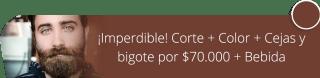 ¡Imperdible! Corte + Color + Cejas y bigote por $70.000 + Bebida - Gustavo Andres Calderon Tenorio