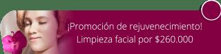 ¡Promoción de rejuvenecimiento! Limpieza facial por $260.000 - Chamarel Spa