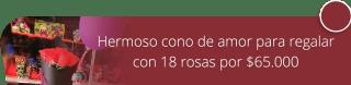 Hermoso cono de amor para regalar con 18 rosas por $65.000 - Flores y Regalos Bogotá