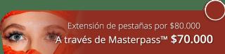 Extensión de pestañas pelo a pelo por $80.000 - Centro de Estética y Spa Viviana Melo