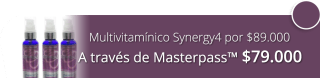 Multivitamínico Synergy4 por $89.000 - La Vida Es Oxígeno