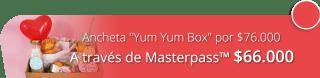 """Ancheta """"Yum Yum Box"""" en bandeja de madera por $76.000 - De Oreja a Oreja"""