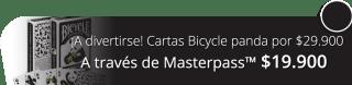 ¡A divertirse! Cartas Bicycle panda por $29.900 - Crea Magia.com
