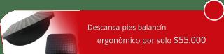 Ergo Funcional Colombia - Descansa-pies balancín ergonómico por solo $55.000