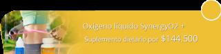 La Vida es Oxígeno - Oxígeno líquido SynergyO2 + suplemento dietario por $144.500
