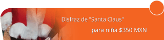 """Disfraz de """"Santa Claus"""" para niña $350 MXN - Disfraces Martha e hijas"""