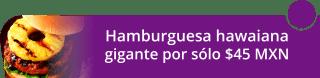 Hamburguesa hawaiana gigante por sólo $45 MXN - MonsterBurguer