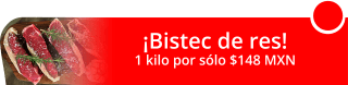 Kilo de bistec de res en $148 MXN - Carnicería y Tocinería Juanito