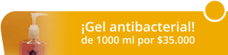 Botella de Gel antibacterial de 1000 ml por $35.000 - Artiks