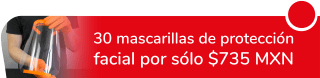 Lote con 30 mascarillas de protección facial por sólo $735 MXN - Grupo Doval