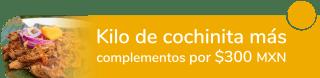 ¡Buen provecho! Kilo de cochinita más complementos por sólo $300 MXN - Don Pibil