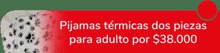 Pijamas Rous - Pijamas térmicas dos piezas para adulto por $38.000