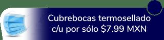 Cubrebocas termosellado, c/u por sólo $7.99 MXN - Farma Imagen