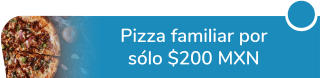 ¡Exquisita oferta! Pizza familiar por sólo $200 MXN - Pizza Isis
