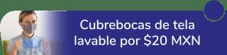 """Cubrebocas de tela lavable a sólo $20 MXN - """"Papelmania"""""""