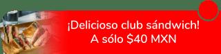 ¡Delicioso club sándwich! A sólo $40 MXN - Xibalba Coffee