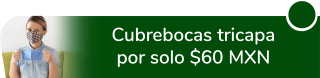 Cubrebocas tricapa por sólo $60 MXN - Tiempos Medievales