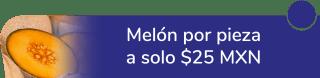 Melón por pieza a sólo $25 MXN - Frutiexpress