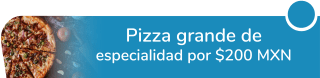 Pizza grande de especialidad a sólo $200 MXN - Papas Y Pizza