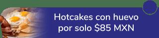 ¡Desayuno de campeones! Hotcakes con huevo por solo $85 MXN. - Restaurante Punto Pizzaiola