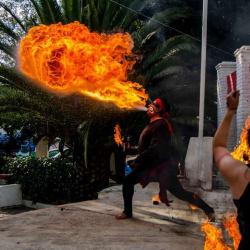 """Actor, performace de fuego """"Arturo Parra"""""""