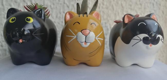 Gato en cerámica personalizado