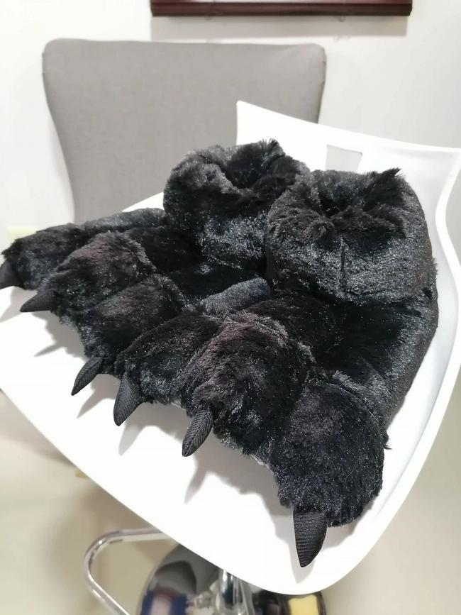 Babuchas de garra color negro