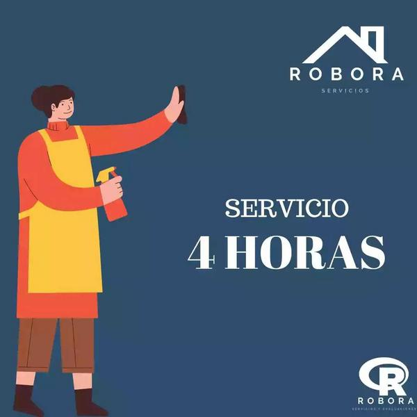 Servicio de 4 horas de limpieza para el hogar