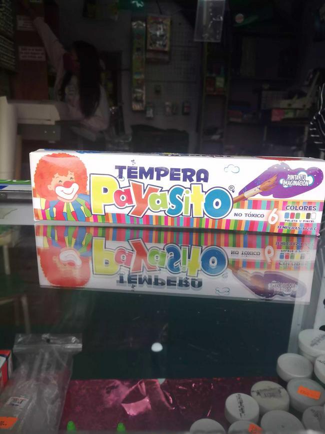 Caja de temperas Payasito