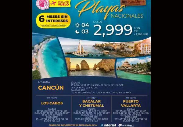 ¡Elije tu destino y fecha! Viajes desde $4,300 MXN