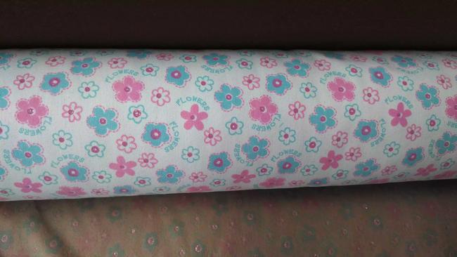 Material capellada lona diseño flores