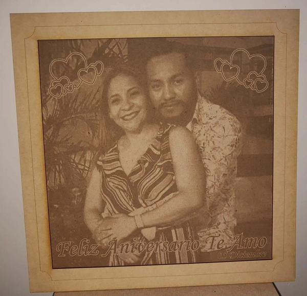 Fotos grabadas en madera