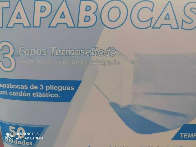 Tapabocas termosellado caja de 50 unidades