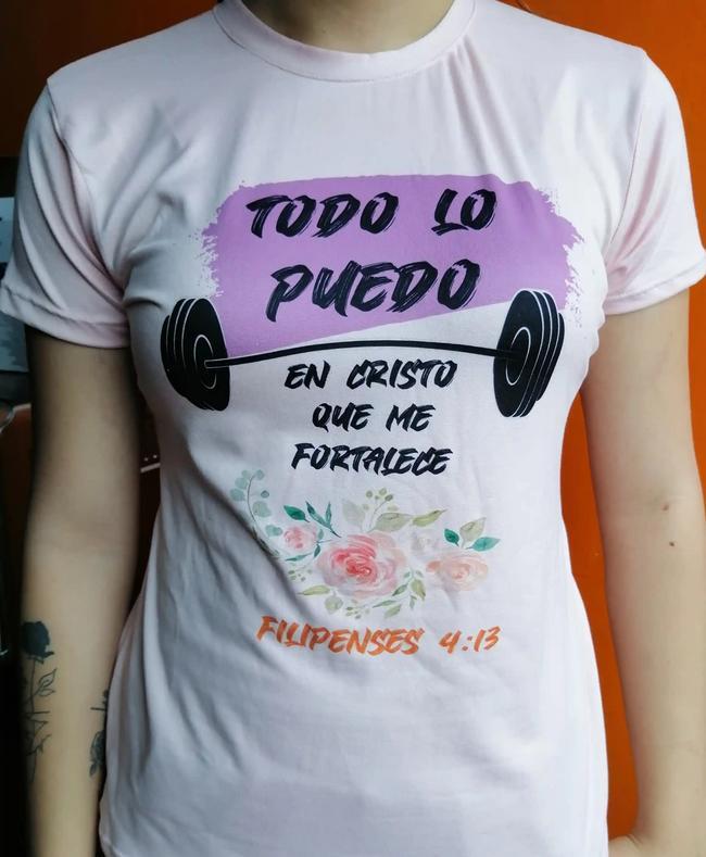 Camiseta en tonos pastel sublimada