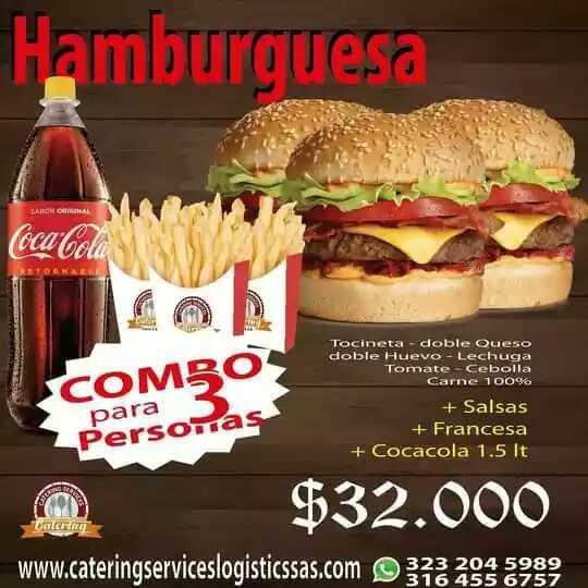 Hamburguesa para 3 personas