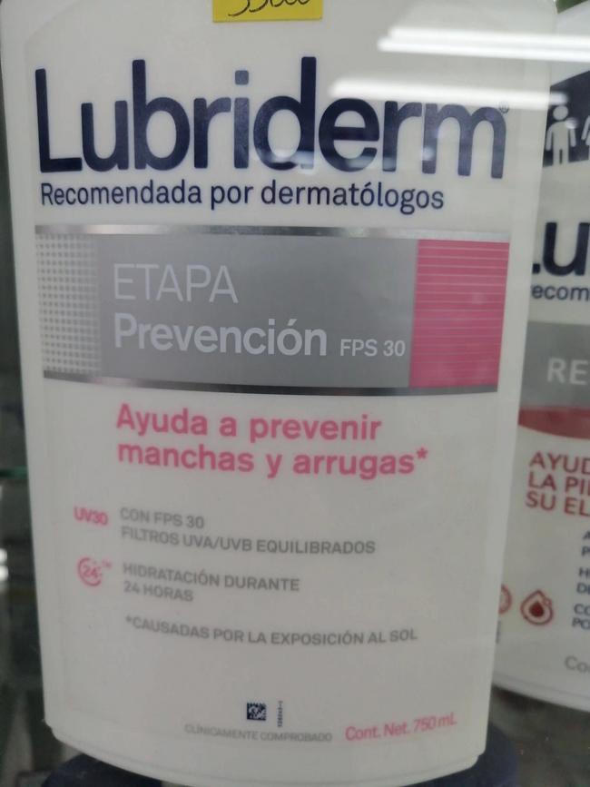 Lubriderm prevención manchas y arrugas