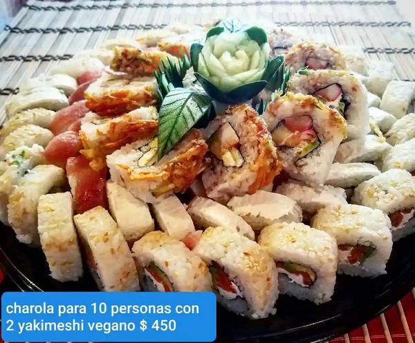 Sushi con 2 yakimeshi