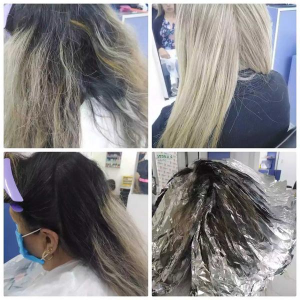 Técnica de desmanche en cabello sensibilizado