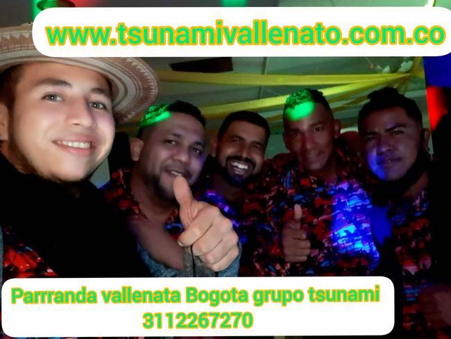 Parranda vallenata Bogotá grupo Tsunami